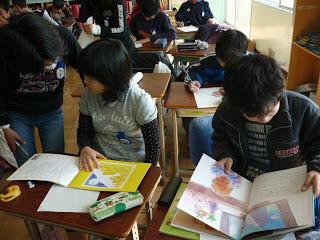 A Japanese school class reading Sadako's Prayer and Children of Light