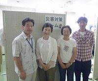 Left: Sato-san, head of the rescue team, Iitatemura