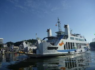 Hiroshima-Etajima ferry is on loan to Miyagi Prefecture.