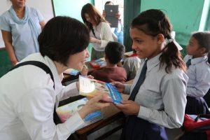 Nepal giving books