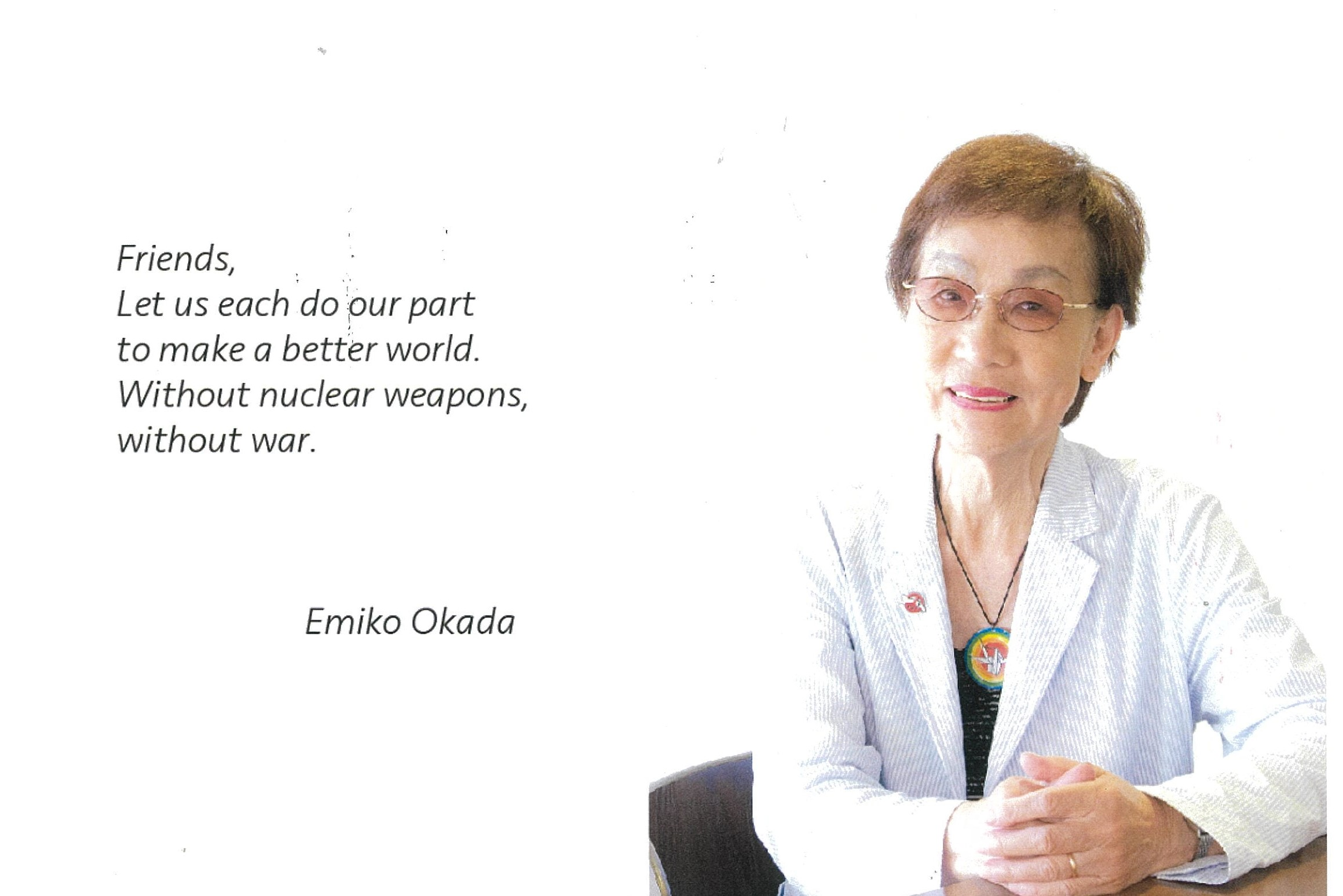 Thumbnail for the post titled: Emiko Okada: the story of an atomic bombing survivor (Part Four)
